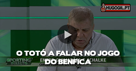 Choraminga derrota do seu clube e fala do Benfica