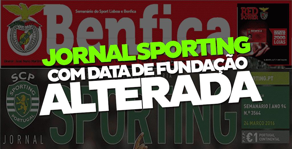 Jornal Sporting mente na sua data de primeira publicação