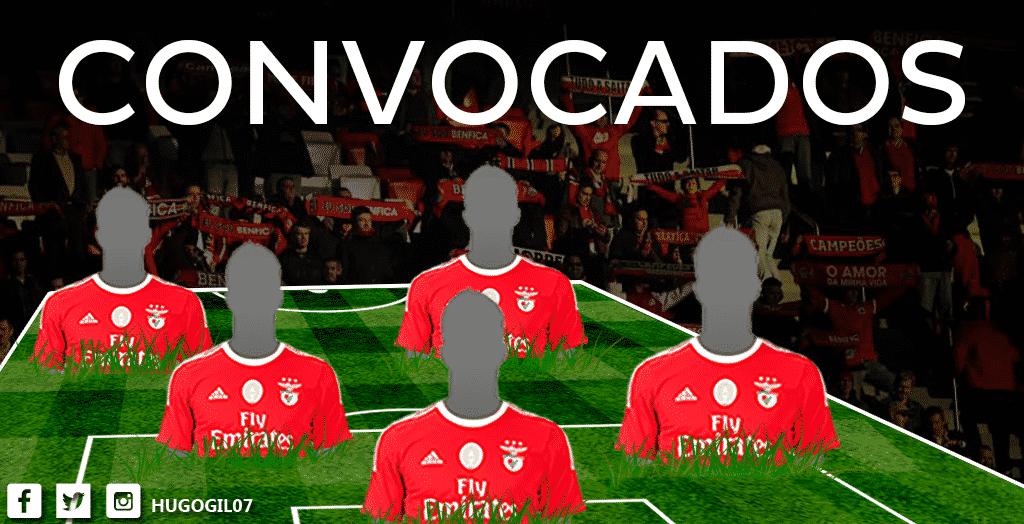 Rui Vitória convocou 20 jogadores para o jogo de Sábado