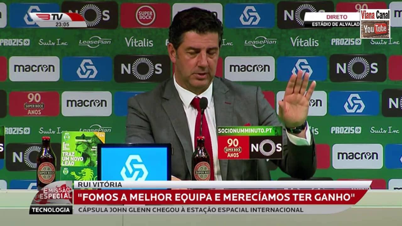 """Rui Vitória: """"ESTAMOS VIVOS E PRONTOS PARA A LUTA"""""""