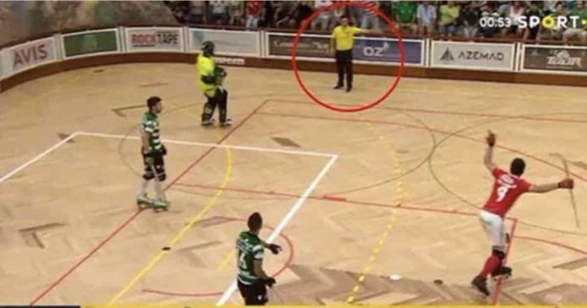 A prova de que Rainha validou o golo da vitória do Benfica em hóquei frente ao Sporting