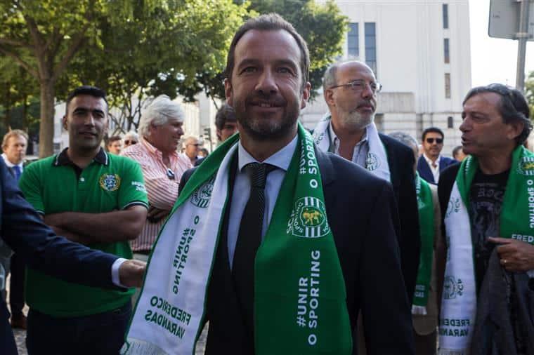 Presidente do Sporting na aflição faz de Bruno de Carvalho e