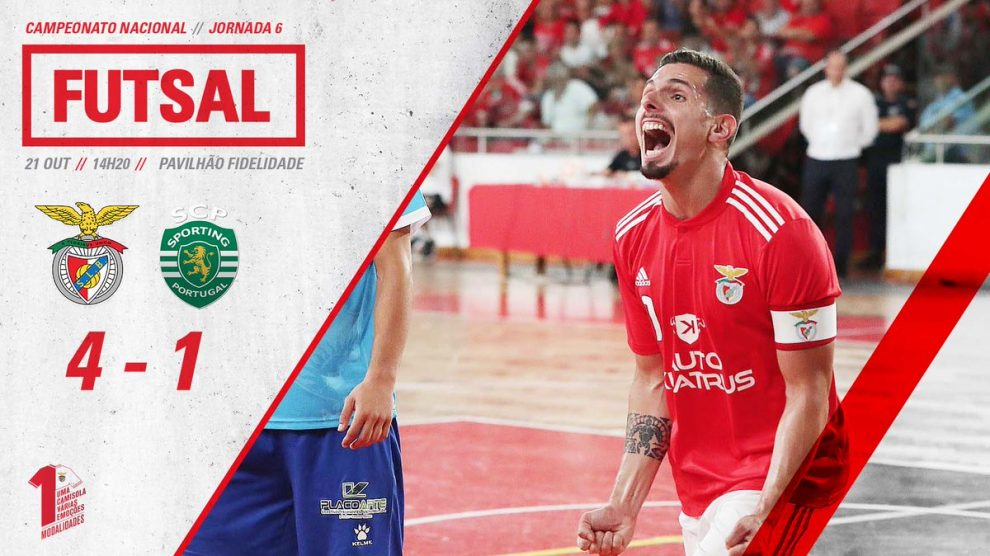 6243f62bba Benfica goleia o Sporting em Futsal