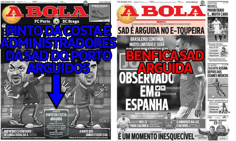 000886a348 Não houve programas extra para debater o assunto e tão pouco fizeram a  acusação na praça pública tal como aconteceu com o Benfica.