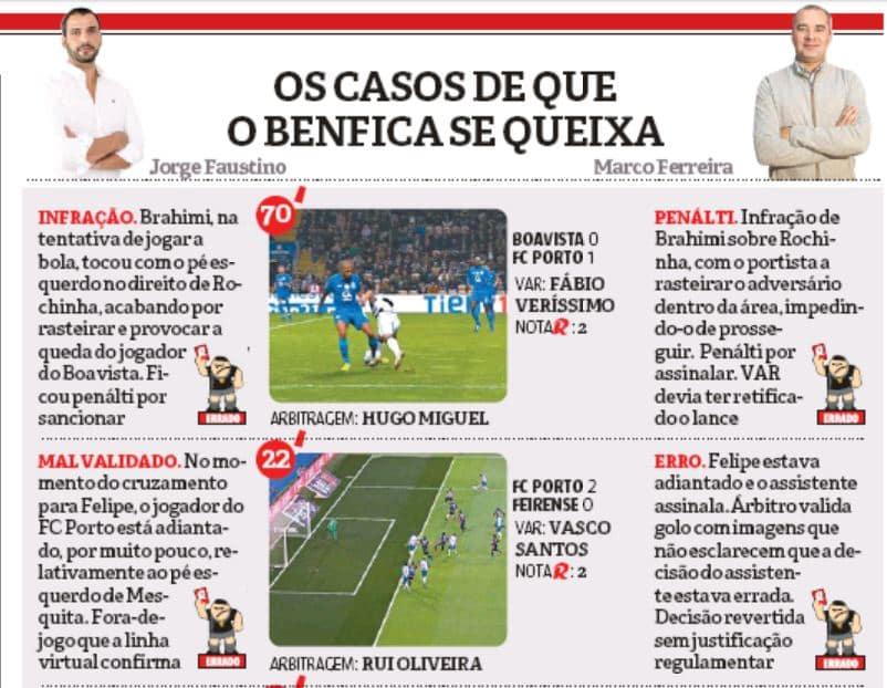 4616b4d22e Vídeo  Eis o lances que vão beneficiando o FC Porto e que devem ser ...